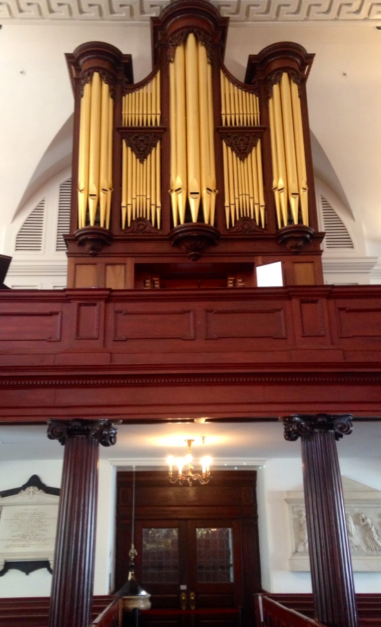 Inside the oldest church in Charleston